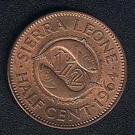 Sierra Leone, 1/2 Cent 1964, UNC - Sierra Leone