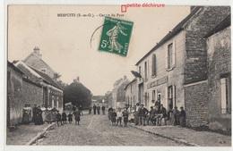 CPA- MESPUITS - Centre Du Pays- (Très Animée Enfants Femmes Hommes -SORET-Vins- AUBERGISTE) -1911-dép91-2scans - Andere Gemeenten