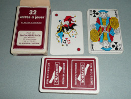 Rare Ancien Jeu De 32 Cartes + 1 Joker, En Boite, Vins Vin Mousseux CHAVEROU Bordeaux-Caudéran - 32 Kaarten