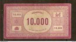 LOT DE 40 BILLETS DE 10000 FRANCS DU JEU DE SOCIÉTÉ MONOPOLY VERSION FRANCE REF. PATENT APPLIED FOR N° 3796/36 - 3 Scans - Jeux De Société
