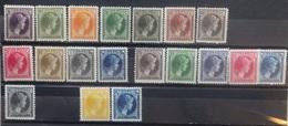 Luxemburg 1926    Nr. 166 - 176 / 187 - 191 + 221 / 225 En 226  Postfris ** / Scharnier *  Zie Beschrijving  CW  73,00 - 1926-39 Charlotte De Profil à Droite