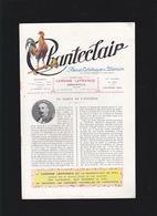 """Chanteclair - N°253 Fev 1929 - Article """"en Marge De L'aviation, Aéronaute Pierre Blanchard, - Books, Magazines, Comics"""