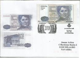 MADRID CC CON MAT FDC BILLETE 500 PESETAS ROSALIA DE CASTRO BANKNOTE - Monedas