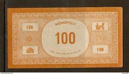 LOT DE 32 BILLETS DE 100 FRANCS DU JEU DE SOCIÉTÉ MONOPOLY VERSION FRANCE REF. PATENT APPLIED FOR N° 3796/36 - 3 Scans - Jeux De Société