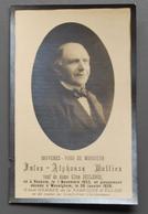 Image Mortuaire - Jules-Alphonse Mulliez, Veuf De Elisa Declercq, Né à Reckem Le 1er Novembre 1853, Décédé à Wevelghem - Images Religieuses