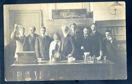 Cpa Carte Photo Classe De Philosophie 1915 - 1916 Philo Dans La Classe De Chimie Physique YN48 - Schools