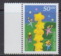 Europa Cept 2000 Iceland 1v (+margin)  ** Mnh (41679M) - Europa-CEPT