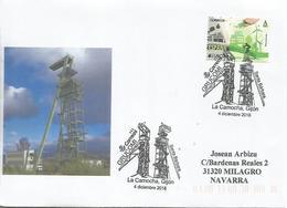 LA CAMOCHA GIJON ASTURIAS CC CON MAT MINA SANTA BARBARA MINNING MINERAL - Minerales