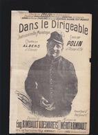 """Aérostation - Petit Format - """"Dans Le Dirigeable"""" Monologue Humoristique Par Polin - Mauvais état - Partitions Musicales Anciennes"""