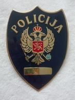 MONTENEGRO CRNA GORA POLICE UNIT OFFICIAL TRIAL MODEL RARE BADGE PIN SIGN SERBIEN POLIZEI SERBE L'insigne - Police