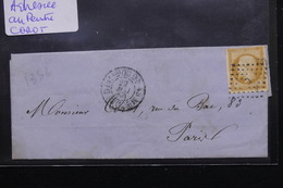 FRANCE - Lettre De Paris Pour Paris En 1856 , Affranchissement Napoléon -  L 20926 - 1849-1876: Periodo Classico