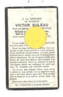 Faire-part De Décès De Mr. Victor SULEAU, Vérificateur En Chef Aux Douanes, Veuf De A; Harnetiaux - BLANDAIN 1931 (b244) - Décès