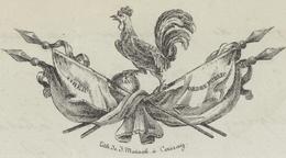Cernay 1833 Bataillon De Cernay Compagnies Des Grenadiers 'Démission De Capitaine' Héraldique - Documentos Históricos