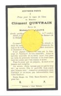 Faire-part De Décès De Mr. Clément QUEVRAIN ép De S. Laloux - CRUPET 1933 (b244) - Décès