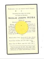 Faire-part De Décès De Mr. Joseph ROBA ép. De E. Michel - LIEGE 1930 (b244) - Décès