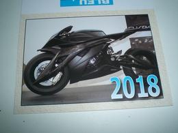 Calendrier De Poche 2018  Moto ( Petit, Mini, Publicitaire) - Calendriers