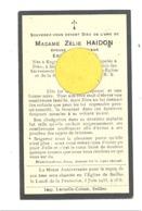 Faire-part De Décès De Mde Zélie HAIDON ép. De E. Mathys - ENGIS 1897 / SEILLES 1932 (b244) - Décès