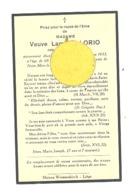 Faire-part De Décès De Mde Adèle BLAISE Vve De L. Lorio - LIEGE 1933 (b244) - Décès