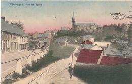 Cpa Belgique Paturages  Rue De L'église - Otros