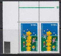 Europa Cept 2000 Romania 1v (pair, Corner) ** Mnh (41680L) - Europa-CEPT