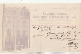 Royaume Uni Facture Lettre Illustrée 25/3/1871 James POWEL  Wine Spirit Beer LONDON - Vin Bière - Royaume-Uni