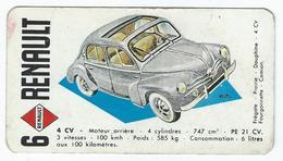 AUTOMOBILE 4 CV De Chez Renault (Carte Des 7 Familles ??) - Automobiles