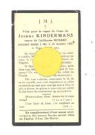 Faire=part De Décès De Mde Jeanne KINDERMANS Vve De G. Robert - ANS 1933 (b244) - Décès