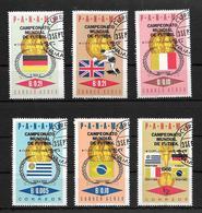 PANAMA CAMPEONATO MUNDIAL DE FUTBOL FUTEBOL  FOOTBALL AÑO 1966 OBLITERES MICHEL NRS. 979 A 984 - Copa Mundial