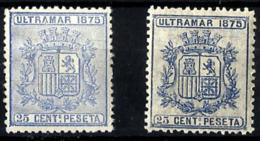 Cuba Española Nº 32/32a En Nuevo - Cuba (1874-1898)