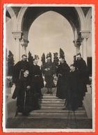 Alpini Cappellano Militare Tenente Assieme Ai Frati  Cpa Anni '40 - Guerra, Militari
