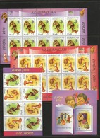 Azerbaijan- Europa -2010  Complete Set ( 2 S/sheets-10st.+1 Booklet-8st. + 1 Block) MNH - Azerbaiján