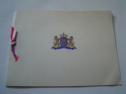 CARTE DE VOEUX 1960 Ancienne : BLASON DE HOLLANDE - JE MAINTIENDRAI / Peinture HENDRICK CORNELISZ VROOM - Documents Historiques