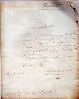 L.A.S. Lettre Signée CHARENTE. A Monsieur Le Préfet  De La Loire Inférieure.Paris Le 19 Juillet 1816. - Historical Documents