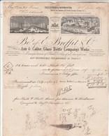 Royaume Uni Facture Illustrée 2/6/1870 BREFFIT & Co Manufactures Of Glass Bottles CASTLEFORD - Royaume-Uni