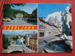 Ljubljana / Laibach - Mehrbildkarte / Auto - Slowenien