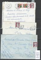 Algérie - Lot De 5 Lettres - Surchargés EA - Algérie (1924-1962)