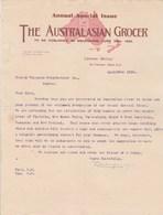 Royaume Uni Facture Lettre Illustrée 20/4/1904 The Australian Grocer  London - Royaume-Uni