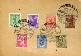 41421 Berlin/brandeburg Berliner Bar Und Eiche, Komplete Satz 7 W. Auf Karte Mit Sost.berlin 11.2.1946 Delegierten Berat - Zone Soviétique