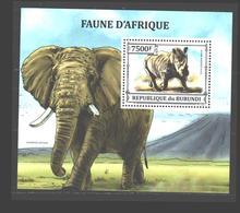 Faune D'éléphant De Rhinocéros Du Burundi 2015 MNH - Burundi