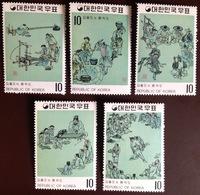 South Korea 1971 Paintings Of Yi Dynasty 6th Series MNH - Corée Du Sud