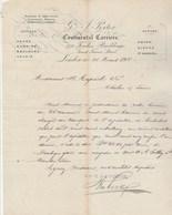 Royaume Uni Facture Lettre Illustrée 28/3/1900 G & J PORTER Continental Carriers LONDON  Pour Aupéche Chalon Sur Saône - Royaume-Uni