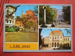 Ljubljana / Laibach - Mehrbildkarte / Autobus - Slowenien