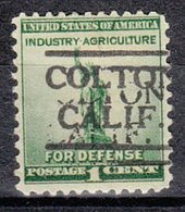 USA Precancel Vorausentwertung Preo, Locals California, Colton 490 - Etats-Unis