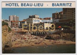 Biarritz (64), Hotel Beau-Lieu, Carte Double Volet, écrite - Hotels & Restaurants