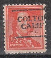 USA Precancel Vorausentwertung Preo, Locals California, Colton 701 - Vorausentwertungen