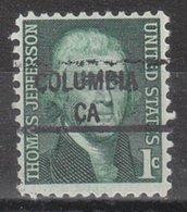 USA Precancel Vorausentwertung Preo, Locals California, Columbia 841 - Vorausentwertungen