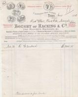 Royaume Uni Facture Illustrée 1893 BOUGHT Of HACKING Iron Founders BURY à Ollier Marvejols Lozère France - Royaume-Uni