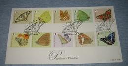 Belgium 2014 FDC Butterflies / Vlinders / Papillons / Farfalle / Mariposas / 蝶 / 蝴蝶 - FDC