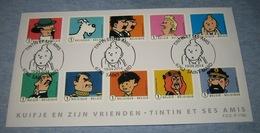 België 2014 FDC 4413/22 (o) Kuifje & Vrienden - Tintin Et Ses Amis- Hergé - FDC