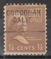 USA Precancel Vorausentwertung Preo, Locals California, Corcoran 703 - Vorausentwertungen